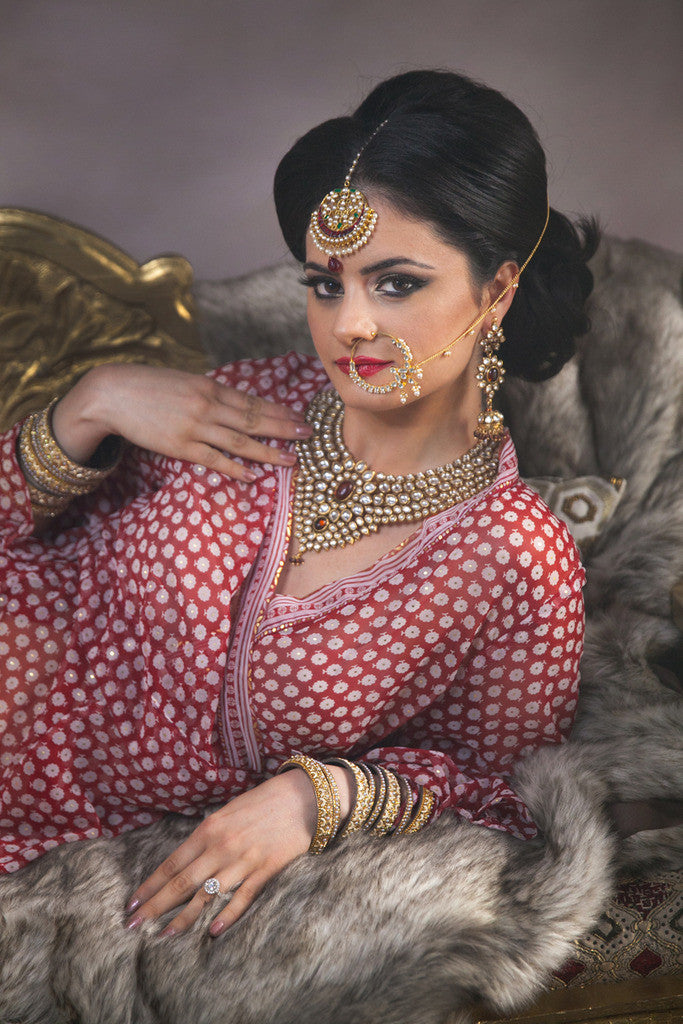indian Bride Jewelry Naath Kundan