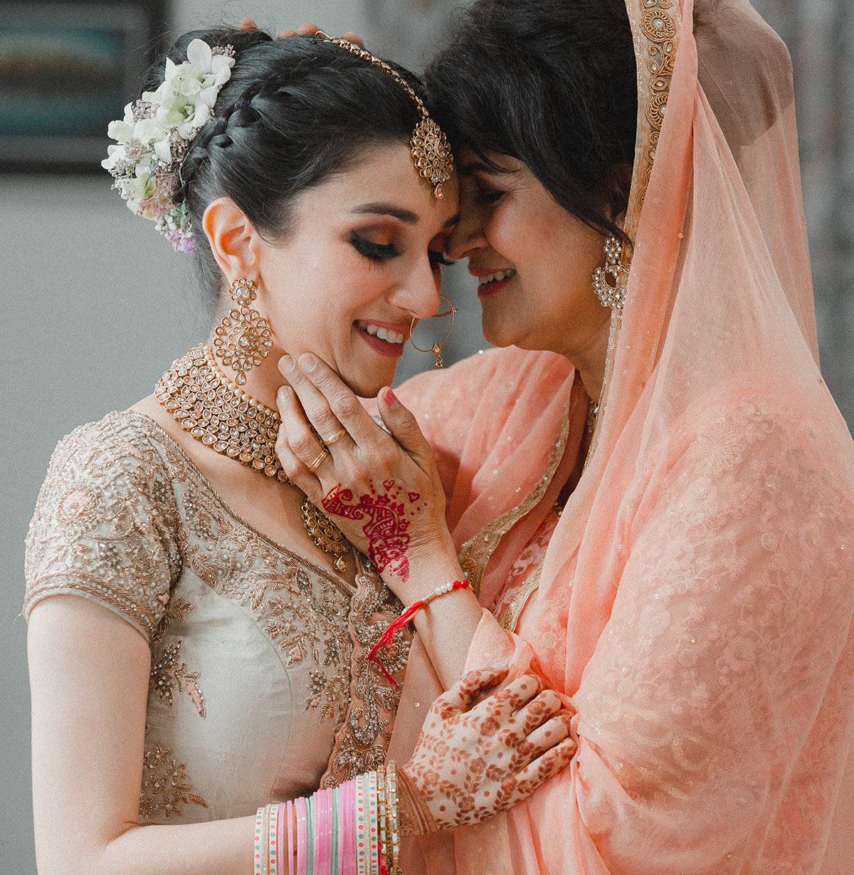 Indian Bride and Mom