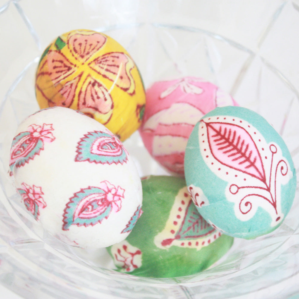 Block Print Easter Eggs