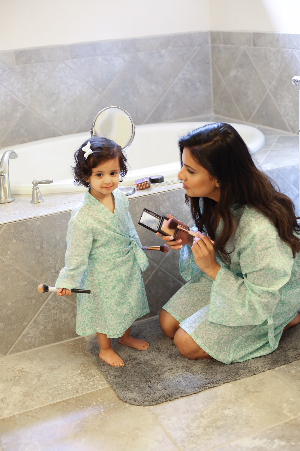 mommy and me matching robe set in bella