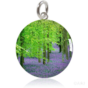 Bluebell Woods Meniscus Resin Photo Pendant or Charm
