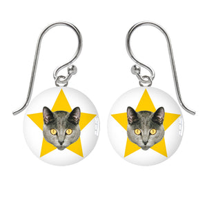Harry Cat Meniscus Pendant
