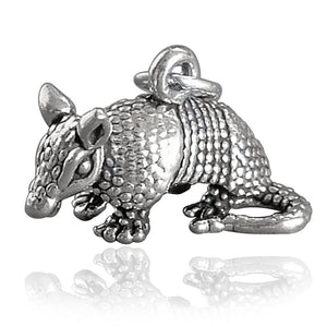 Armadillo Charm Sterling Silver Animal Pendant