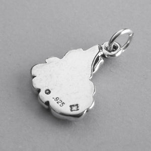 Camp Fire Charm Sterling Silver Camping Pendant
