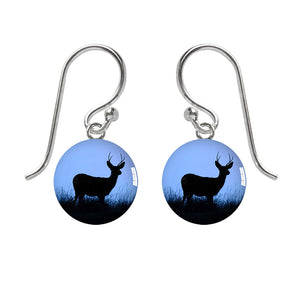 Amanda Jo Meniscus Deer Silhouette Earrings