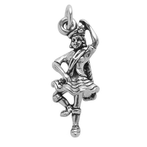 Scottish Highland Dancer Charm Sterling Silver Scotland Pendant