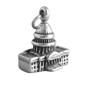 Sterling silver Capitol Building charm