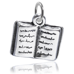 Sterling Silver Open Book Charm