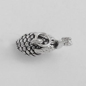 Sterling Silver Peacock Bird Charm