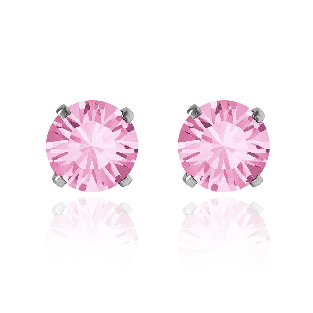 Swarovski solitaire earrings choice of colours