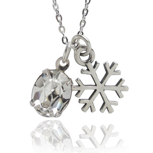 Winter Snowflake Charm Necklace | Amanda Jo Jewellery