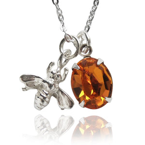 Honey Bee Charm Necklace | Amanda Jo Jewellery