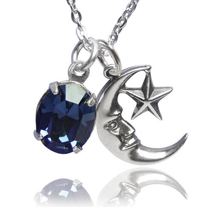 Blue Moon Charm Necklace | Amanda Jo Jewellery