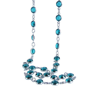 Jewelled Crystal Chain Necklace by Amanda Jo