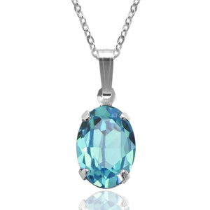 Swarovski Oval Necklace | Choice of Colours