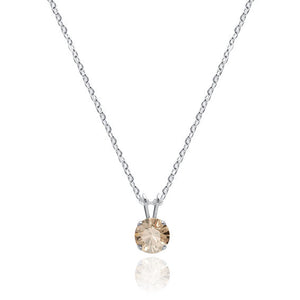 Swarovski Crystal Solitaire Necklace Golden Shadow