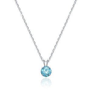 Swarovski Crystal Solitaire Necklace Light Turquoise