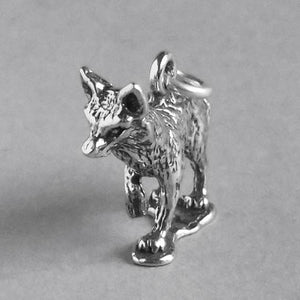 Fox Charm 925 Sterling Silver Pendant
