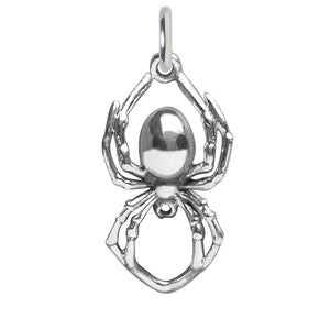 Spider Charm Sterling Silver Bug Pendant | Amanda Jo Charms