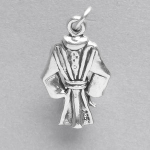 Bathrobe Charm Sterling Silver Pendant | Amanda Jo Charms