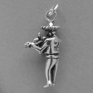 Mexico Mariachi charm sterling 925 silver pendant