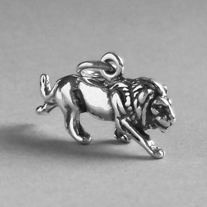 Sterling silver lion charm pendant