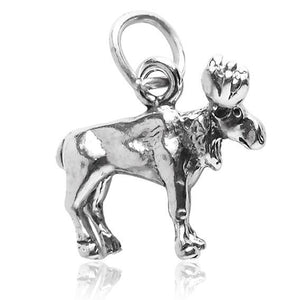 Moose Charm Sterling Silver Animal Pendant | Amanda Jo Charms