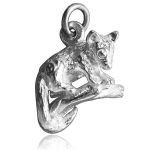 Sterling Silver or Gold Possum Charm Pendant