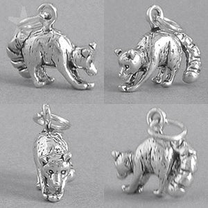 Racoon Charm Sterling Silver Animal Pendant | Amanda Jo Charms