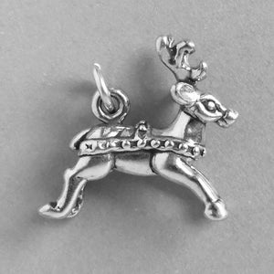 Sterling Silver Christmas Reindeer Charm