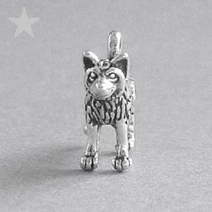 Wolf charm 925 sterling silver animal pendant