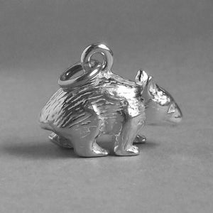 Australian Wombat Charm Sterling Silver or Gold Animal | Charmarama