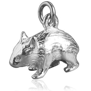 Australian Wombat Charm Sterling Silver or Gold Pendant | Charmarama