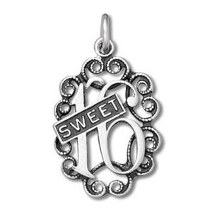 Sterling Silver Sweet Sixteen 16 Charm Pendant | Amanda Jo Charms