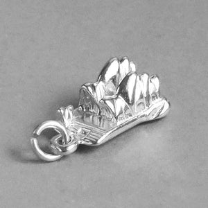 Sydney Opera House Australia Charm Sterling Silver Gold