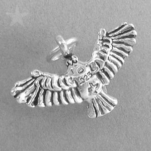 Eagle Charm Sterling Silver Bird Pendant | Amanda Jo Charms