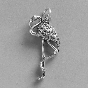 Sterling Silver Flamingo Bird Charm