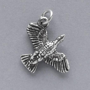 Goose flying charm sterling silver bird pendant | Amanda Jo Charms