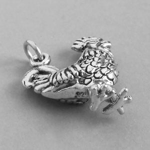 Sterling Silver Rooster Charm Pendant