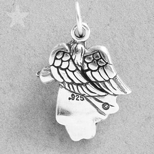Angel with Open Arms Charm Sterling Silver
