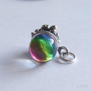 Sterling Silver Crystal Ball Charm
