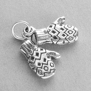 Pair of Gloves Charm Sterling Silver Pendant