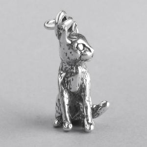 Sitting Cat Charm 925 Sterling Silver Pendant