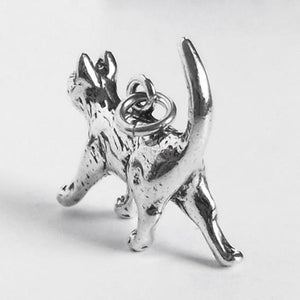 Cat Charm Sterling Silver Pet Pendant | Silver Star Charms