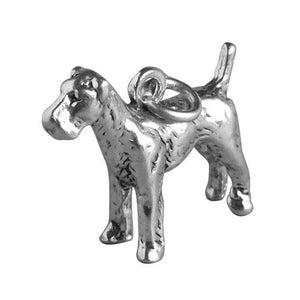 Airedale dog charm 925 sterling silver pendant | Amanda Jo Charms