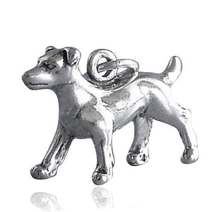 Sterling Silver Jack Russell Dog Charm | Amanda Jo Charms