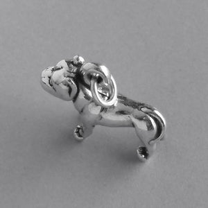 Pitbull terrier dog charm sterling 925 silver pendant | Amanda Jo Charms