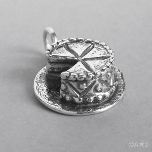 Sterling Silver Birthday Cake Charm | Amanda Jo Charms