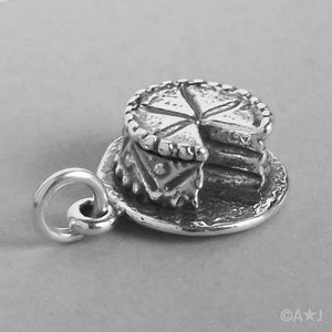 Sterling Silver Birthday Cake Charm Pendant | Amanda Jo Charms