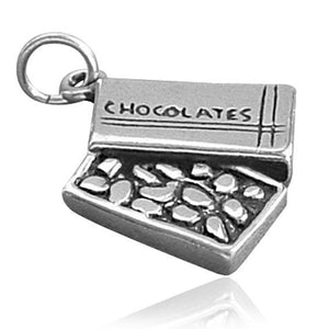 Sterling Silver Box of Chocolates Charm